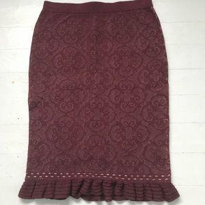 NWT Max Studio brocade knit sweater skirt